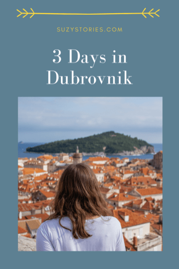woman looks over dubrovnik old town