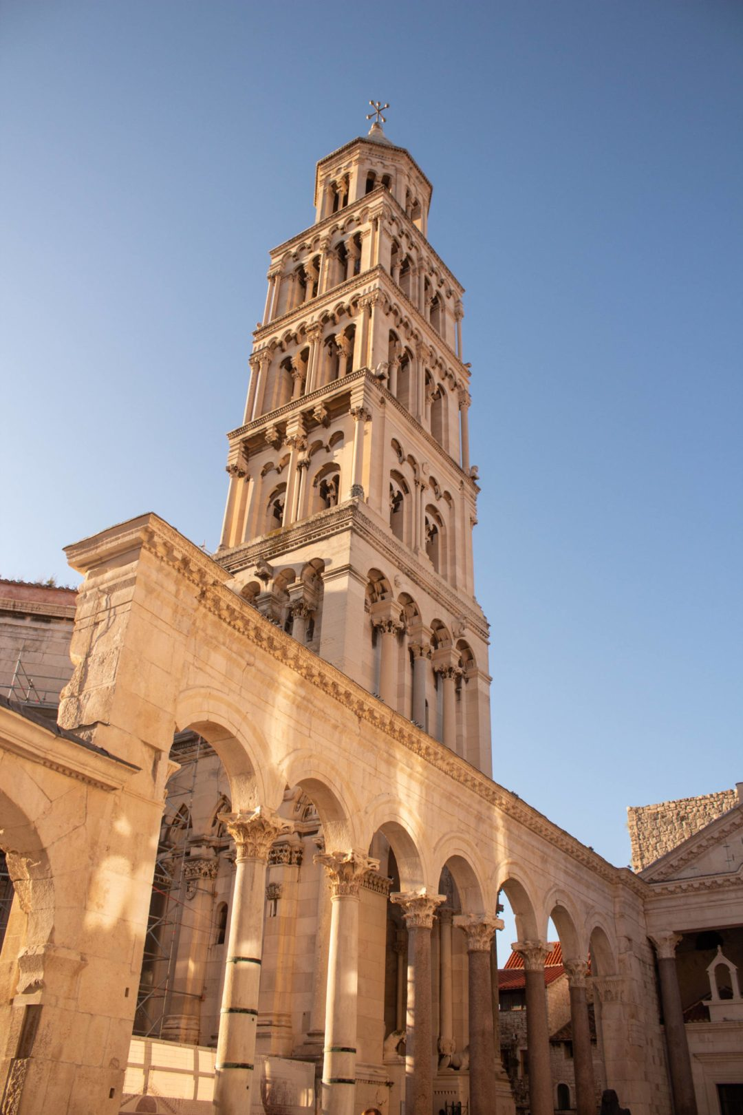 split cathedral bell tower