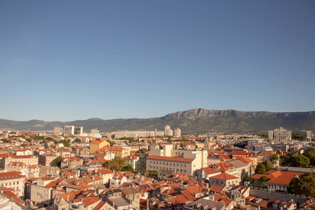 view over split old town from bell tower