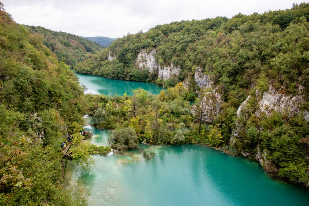 tiered lakes at plitvice national park