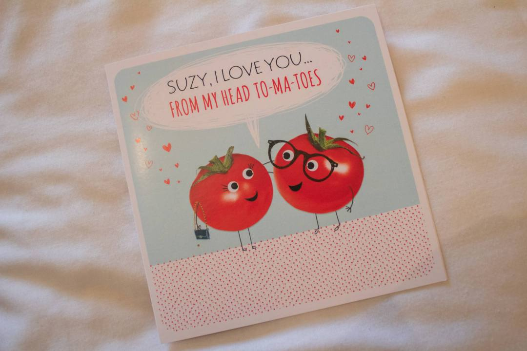 valentines card with cheesy pun