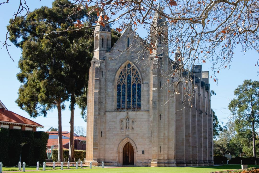 gothic style school chapel in guildford WA