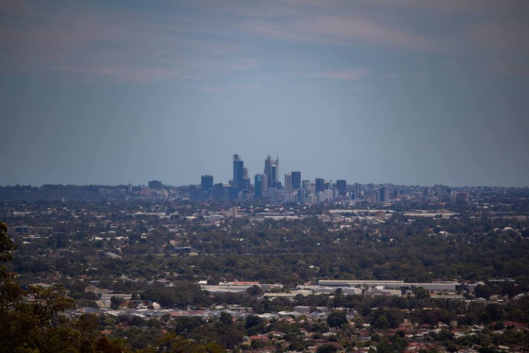 perth city view from top of short hike