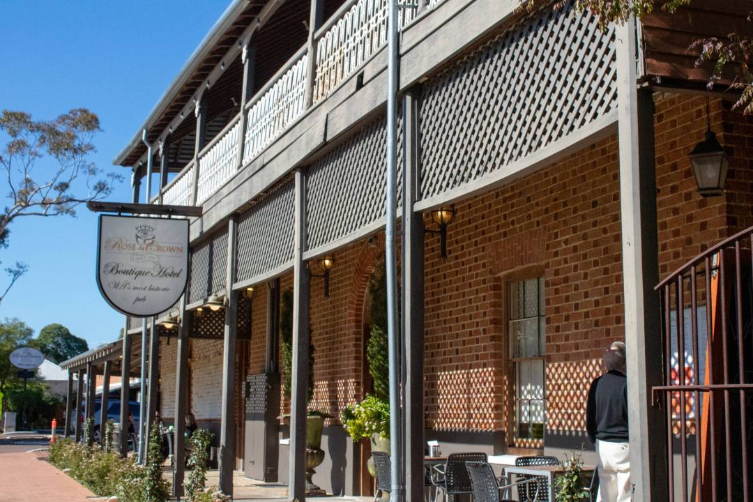 brick colonial style pub verandah in guildford WA
