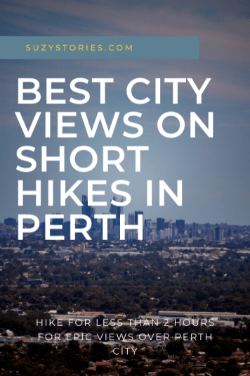 view over perth city from nature reserve