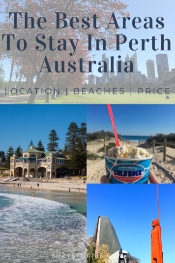 collage of areas in perth to stay with title text overlay