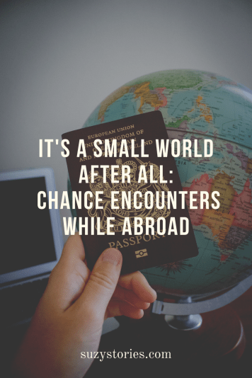 hand holds passport in front of globe with title text overlay