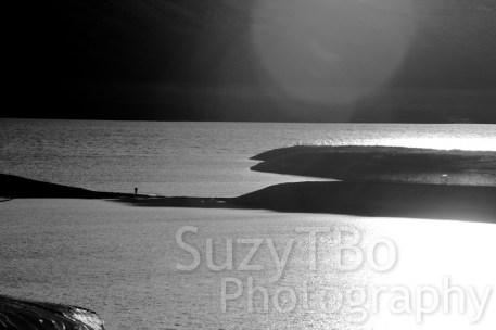 Black & White Sunset Fishing Blue Mesa Lake