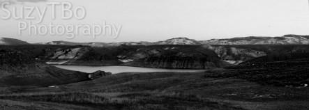 Black & White Blue Mesa Lake