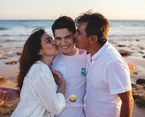 sessão familiar na praia