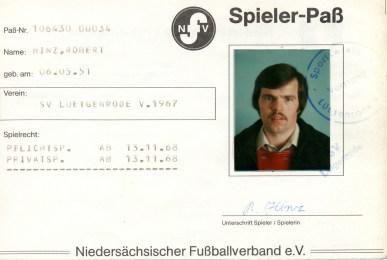 Wolfgang Hinz - Spielerpass_Hinz_Robert_SVL