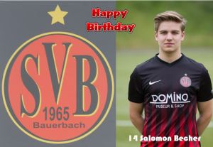 Salomon Becher @Happy Birhday @ Waldstadion Bauerbach
