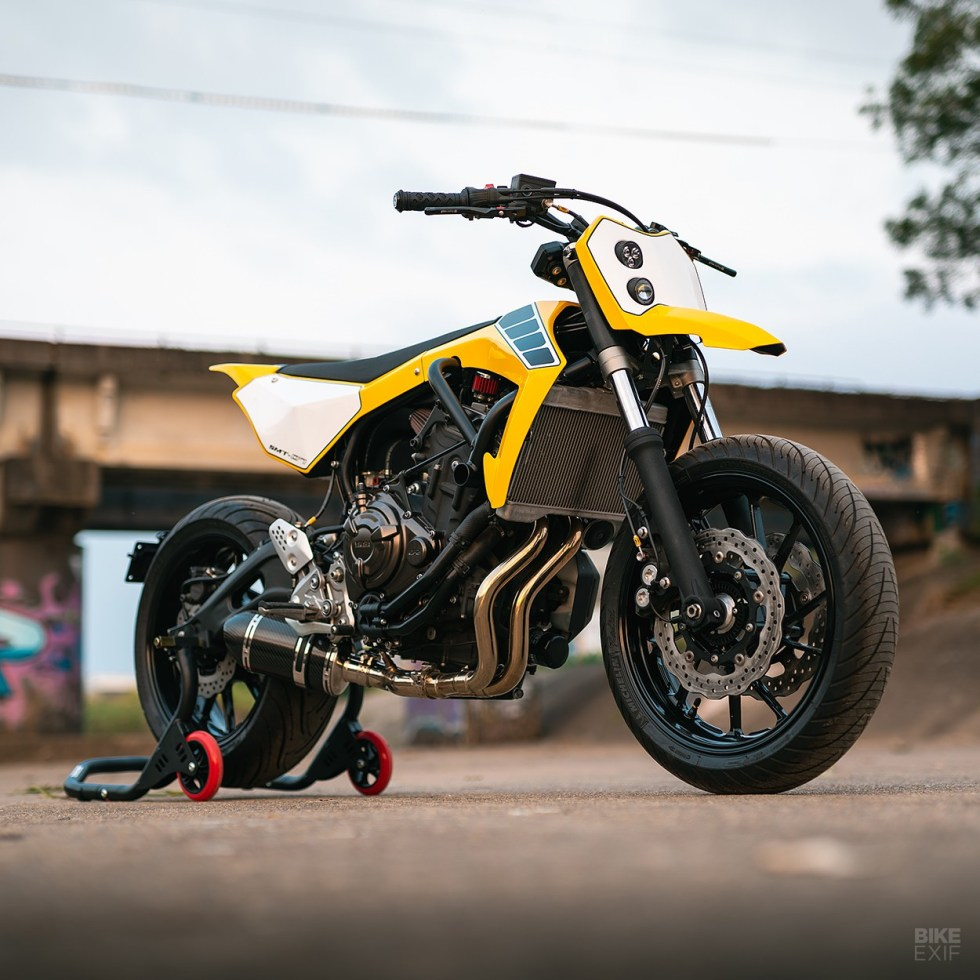 custom 2017 yamaha mt07 supermoto 9