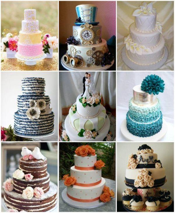 Популярные кремовые свадебные торты: бюджетный выбор меню ...