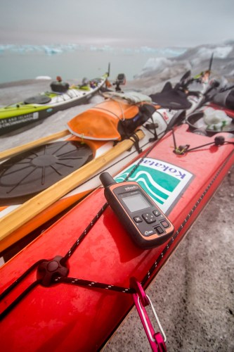 Camping precariously atop the Glacial cliffs our inreach keeps us intouch with the world every step of the way.