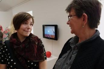 Jenny Foglert och Bodil Anjar i samspråk