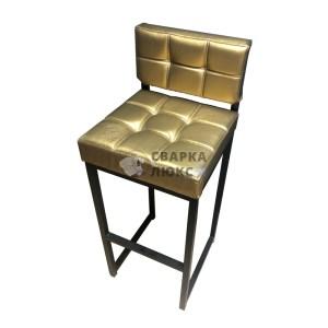 Барный стул Лофт Золотой Сварка Люкс
