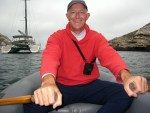 Scott rowing around Potato Harbor - Santa Cruz Island