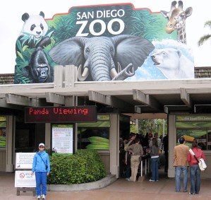 Cindy at the San Diego Zoo