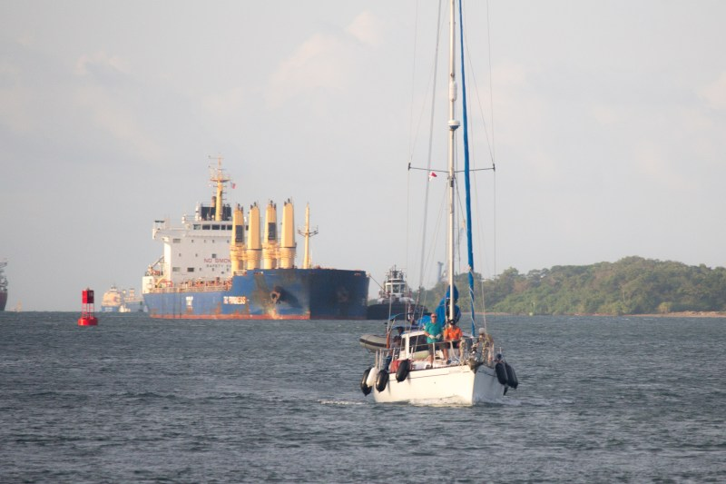 "s/v ""Kristiana"" from Australia with Paddy at the helm would be our ""raft tie"" to port."