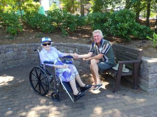 Paul & Edna at Labarynth