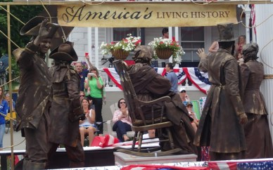 Eerie, looked like statues but were real - great float!