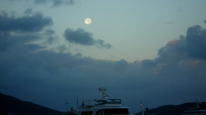 Full moon over North Sound
