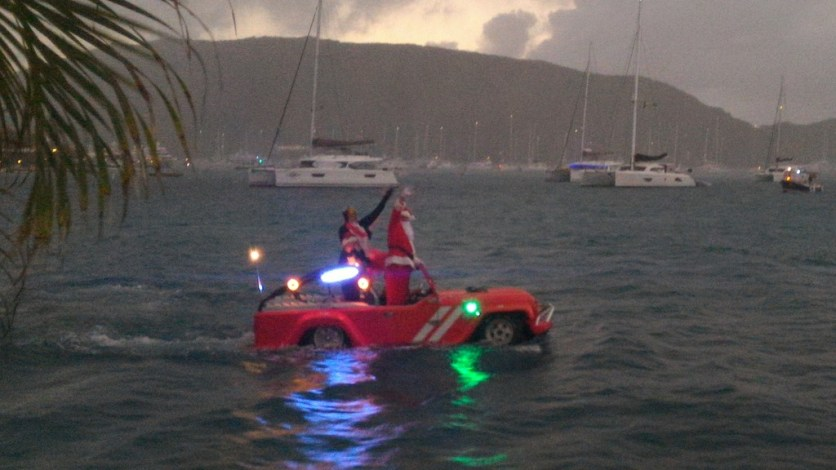 Santa's new ride for the BVI