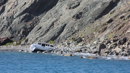 Sad sight. Always check your anchor or mooring line!