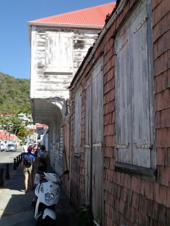 Gotta love that weathered wood and narrow streets