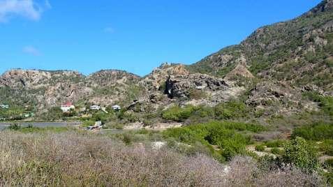 Rugged hills around Grande Saline