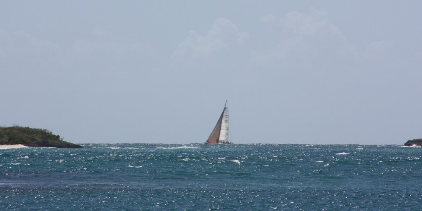 This is the first boat we noticed, there were many more to follow