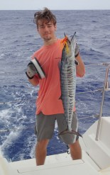Titan with first catch - a Wahoo!