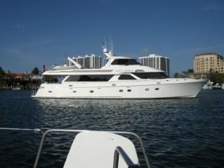 M/V Sveti Nikola, anchored off our port at Lake Boca Raton