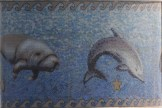 manatee and dophin in tile