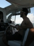Duncan at the helm
