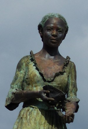 girl with conch shell