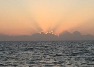 offshore sunrise, near St Augustine, FL