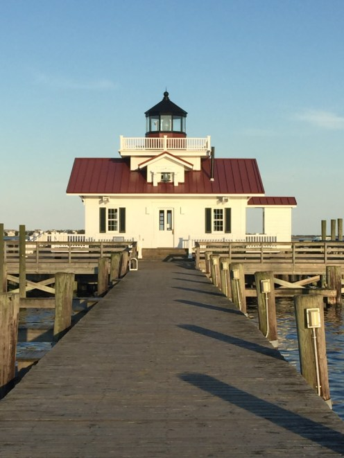 Roanoke Marshes Light and boardwalk