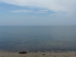 view from beach, Cedar Point SP