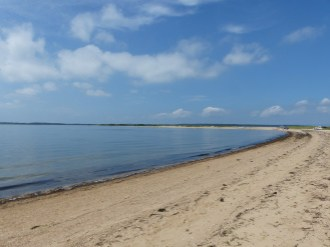 beach at midday, Cedar Point State Park