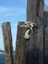 Buzz Lightyear, guarding the Shelter Island-Greenport Ferry