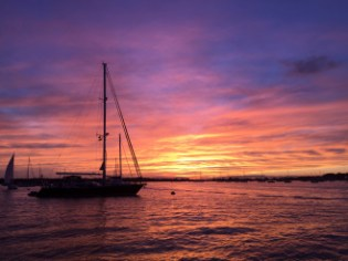 sunset, Port Washington