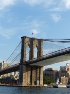 Brooklyn Bridge, East River, looking towards Brooklyn