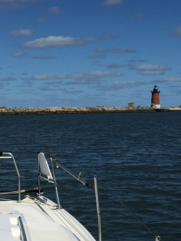 Breakwater Light, near Lewes DE, our anchorage for several days