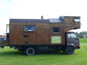 GYPSY VAN 1 – Lots of unusual vans and trailers (they call them Caravans) amongst the group.