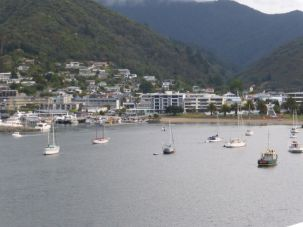 Picton - This is a picture of the harbor as we were coming into the town