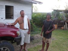 Boys - These are some of the boys Lena was talking about, there was another six or so working the kava root