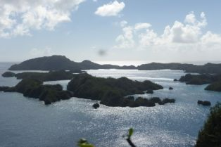 Bay of Islands - view from plantation tour we got. This is were we anchored and did some dive and snorkeling.