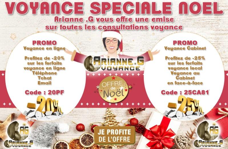 Promotion Voyance spéciale Noël chez Arianne .G Voyance